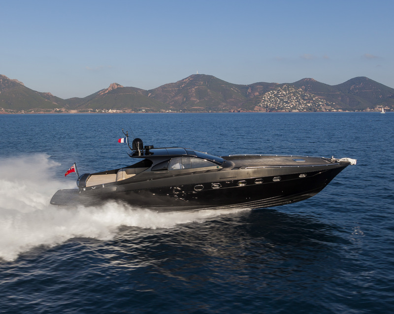 OTAM 58 HT 'CRAZY TOO' luxury yacht chase boat - side view - Photo by Alberto Cocchi
