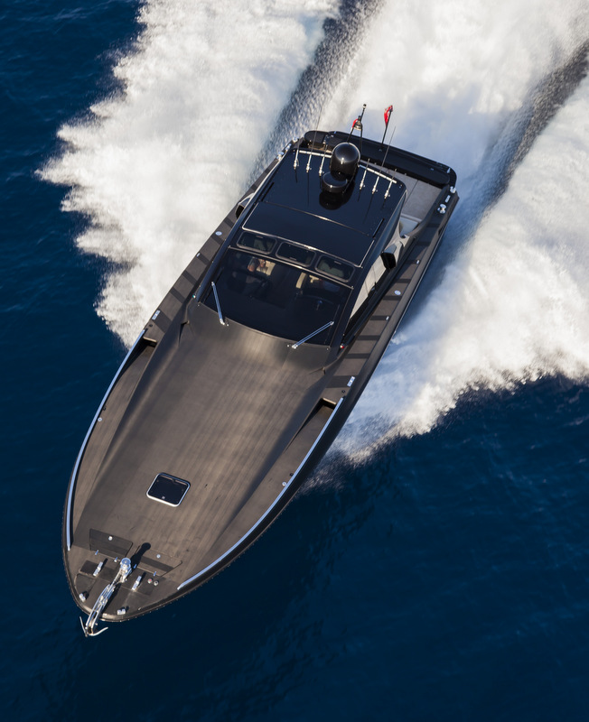 OTAM 58 HT 'CRAZY TOO' superyacht chase boat - top view - Photo by Alberto Cocchi