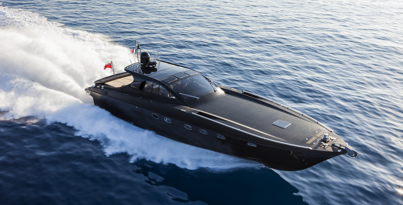 OTAM 58 HT 'CRAZY TOO' yacht chase boat at full speed - Photo by Alberto Cocchi