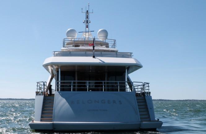Superyacht Belongers - aft view