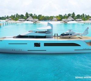Latest 42m motor yacht ANOTHER DIMENSION concept by Dennis Ingemansson