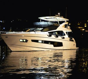 Sunseeker Hellas celebrate launch of new 'Sunseeker 75 Yacht' motor yacht FINEZZA