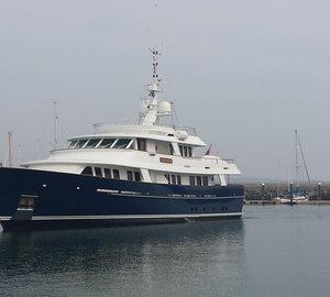 36m Royal Huisman Motor Yacht ARCADIA visits Dun Laoghaire Marina in Dublin