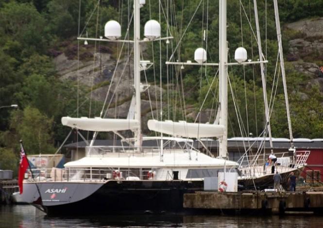 56m Perini Navi superyacht Asahi (ex Riela) - Image credit to RSB Rigging