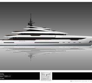 New 67m Prince Shark Yacht Version by Team For Design - Enrico Gobbi for Rossinavi
