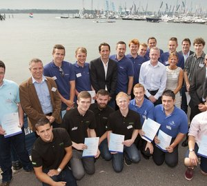 British Marine Federation's apprentices awarded by Sir Ben Ainslie at PSP Southampton Boat Show