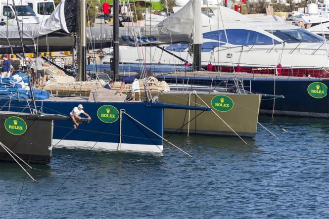 Dockside preparations at the Yacht Club Costa Smeralda - Photo credit to Rolex Carlo Borlenghi