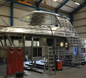 New 24m Drettmann Explorer 24 yacht taking shape