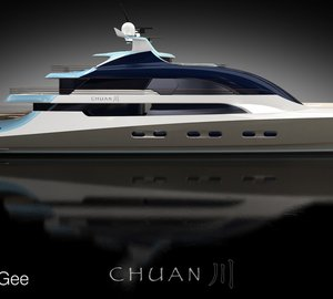Claydon Reeves and BMT Nigel Gee unveil motor yacht Project Chuan