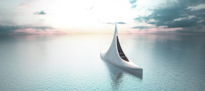 Luxury yacht Project STAR from above