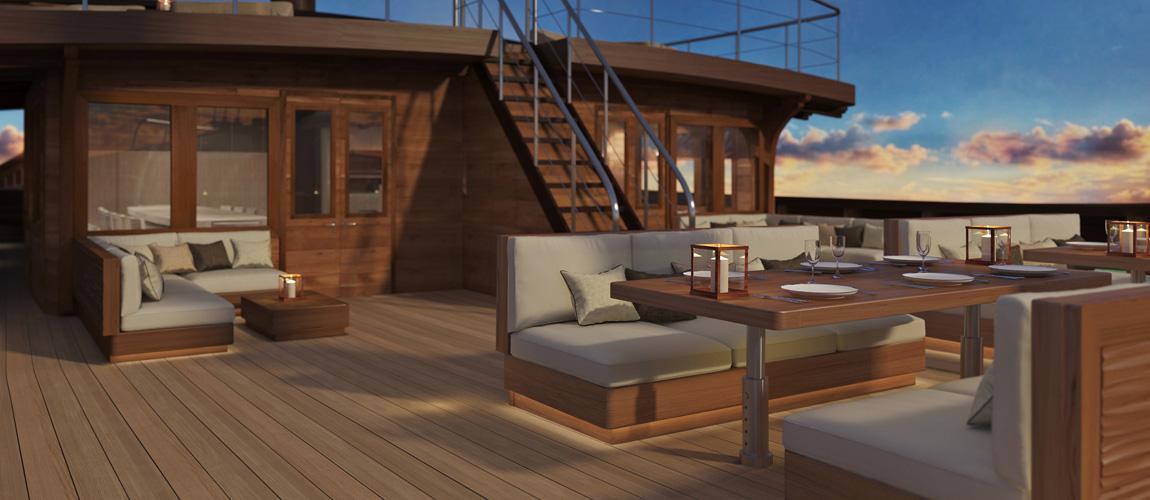 Main Deck rendering - Superyacht LAMIMA