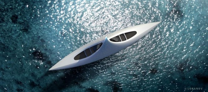 Mega yacht Project STAR - top view