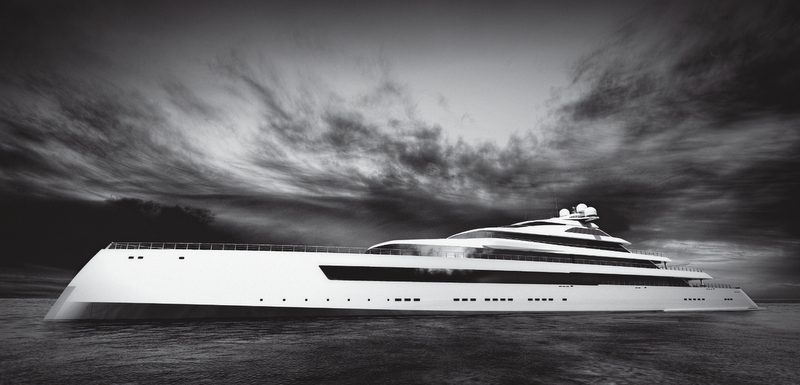 New 115m mega yacht Estatement concept by Pride Mega Yachts