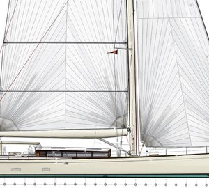 New 38m Sailing Yacht Concept for JFA Yachts introduced by Barracuda Yacht Design at MYS 2014