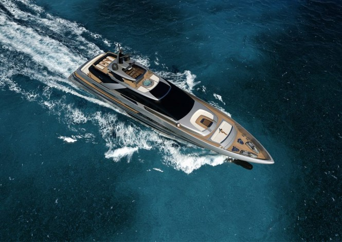 New 50m motor yacht project by RIVA - Photo credit to Riva Yacht