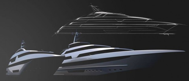 New RIVA range of superyachts in steel - Photo credit to Riva Yacht