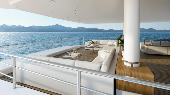 New Tankoa mega yacht S701 - Exterior spaces