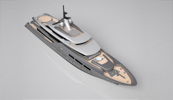 New Tankoa super yacht S701 - From Above