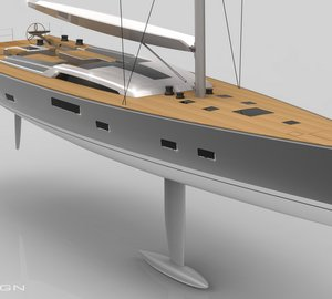New sailing yacht JVNB 115' by Nauta Design and Judel-Vroljik under construction at Baltic Yachts