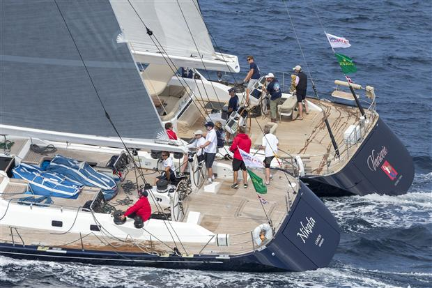 Nikata (GBR) and Varsovie (CAY) yachts at the 2014 Rolex Swan Cup - Photo Rolex : Carlo Borlenghi