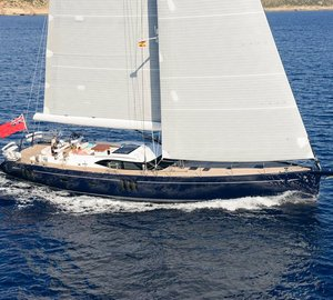 Oyster 825 sailing yacht REINA on display at Monaco Yacht Show 2014