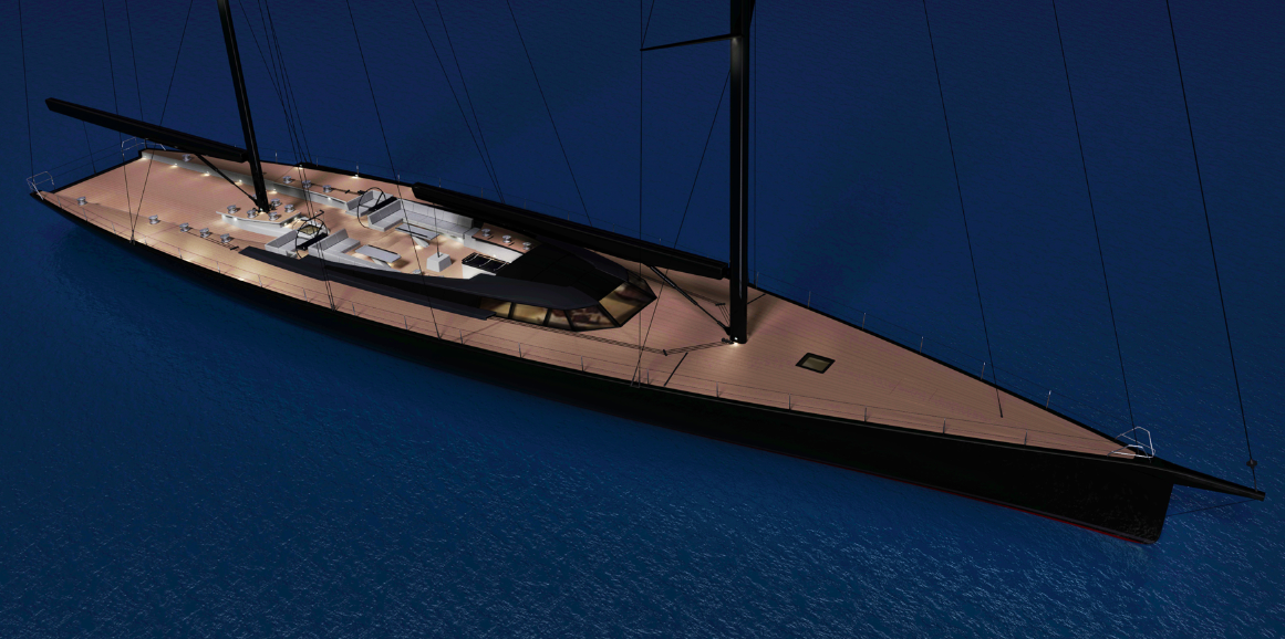 SAMURAI Yacht - Huisfit - ext rendering by Rhoades Young Design