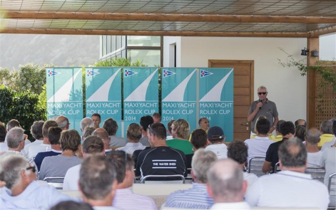 Skippers Briefing at the YCCS clubhouse - Photo credit to Rolex Carlo Borlenghi