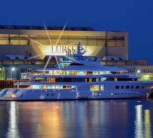 Sea trials for 104m Lurssen motor yacht QUANTUM BLUE