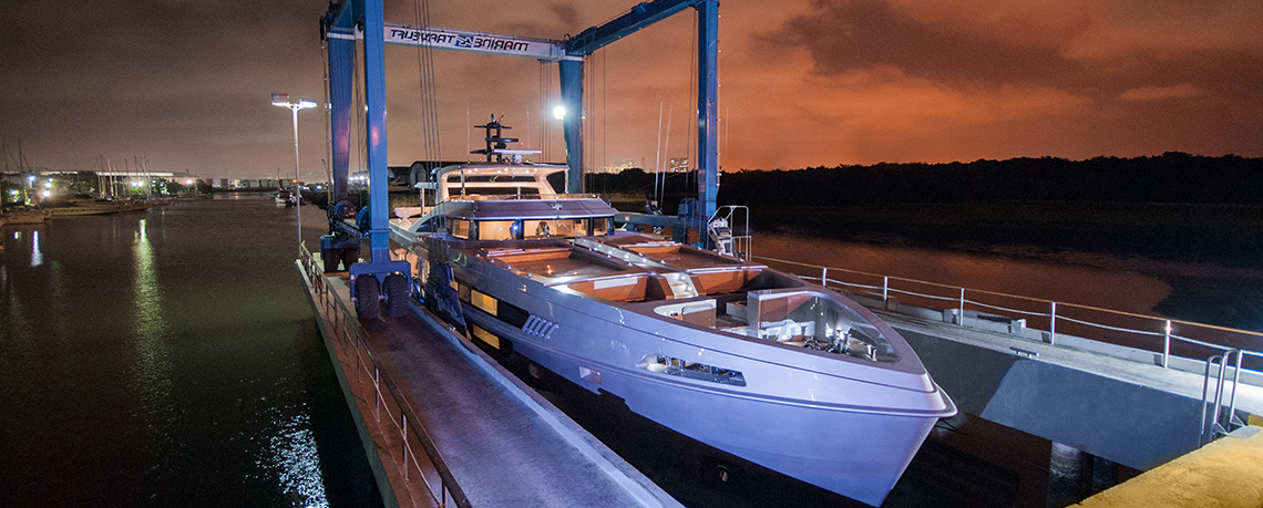 106 LE Yacht by MCP at launch