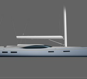 New 46m (150') sailing yacht concept by Rob Doyle Design