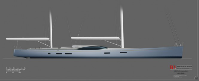 46m (150') superyacht concept by Rob Doyle Design