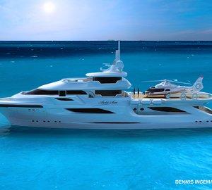 New 48m motor yacht ARCTIC SUN II concept by Dennis Ingemansson