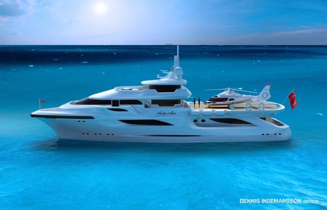 48m explorer yacht Arctic Sun II by Dennis Ingemansson