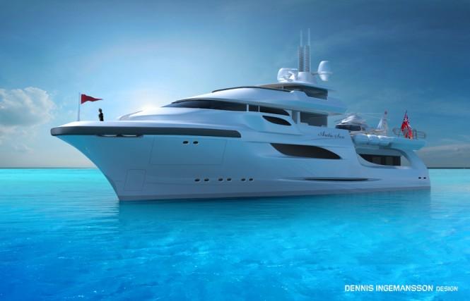 48m super yacht Arctic Sun II design