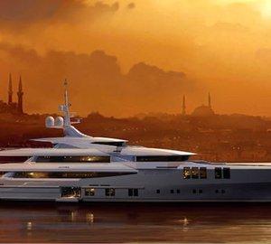 Sunrise Yachts and John Staluppi Market 68m motor yacht Project SKYFALL