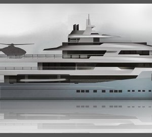 Haak interior design of excellence among IY&A Awards 2015 Finalists with 74m explorer motor yacht AUSTIN concept