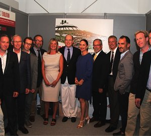 HSH Prince Albert II welcomes ten Superyacht Designers as new Wood Forever Pact Partners at MYS 2014