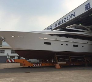 Launch of new Horizon RP110 motor yacht PARADISE