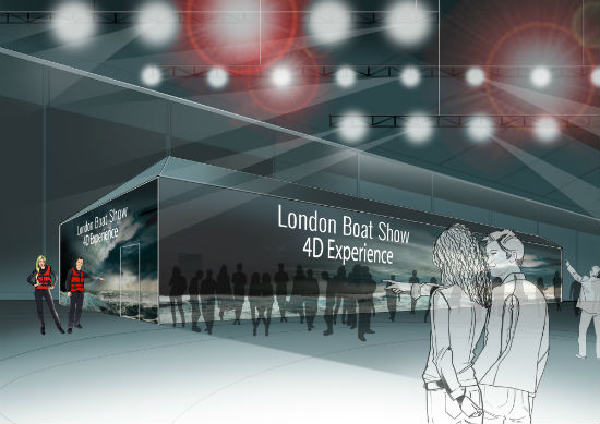 London Boat Show 4D Experience