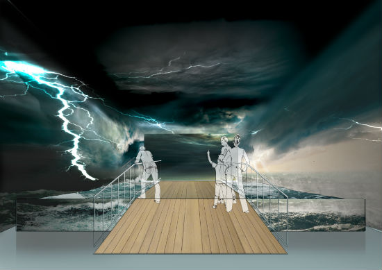 London Boat Show Tunnel Storm