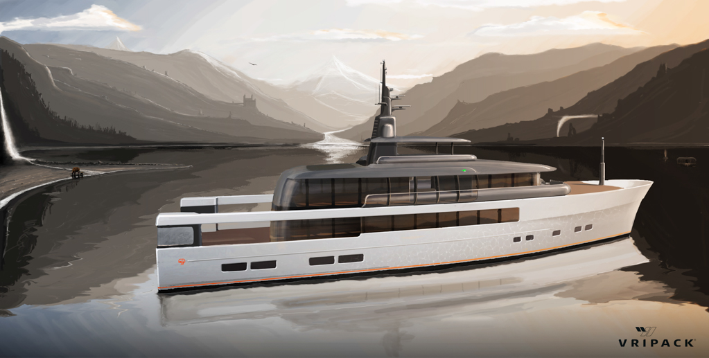 Luxury super yacht concept CASA by Vripack