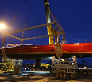Launch of new 35m Baltic 116 Custom sailing yacht DORYAN at Baltic Yachts