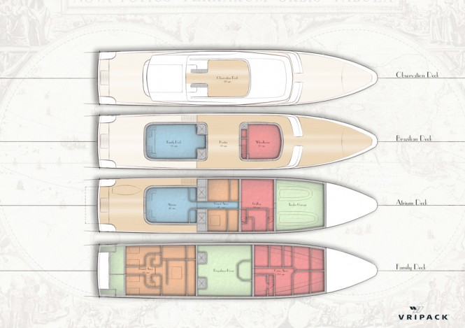 Luxury yacht CASA concept by Vripack - Layout