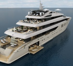 Arrival of 75,80m motor yacht ICON 250 hull at ICON Yachts