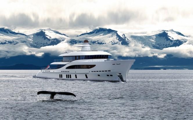 Rendering of the Z164 yacht by Zeelander