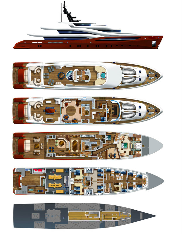 Sarp 58 Yacht NB102 - General Plan and Profile