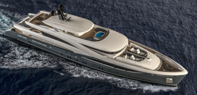 Sarp luxury yacht NB102 from above
