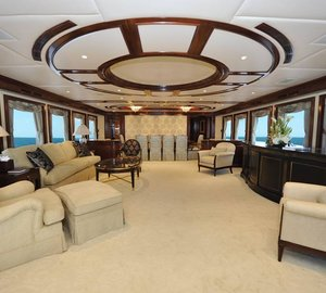 142' Trinity motor yacht CHEVY TOY with interior refit by Destry Darr Designs
