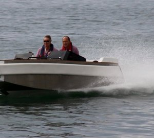 New European speed record set by Ampere 5.5 tender to motor yacht NONO