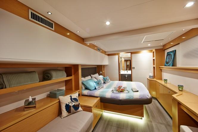 Victoria 67 charter catamaran LIR - Photo credit LIR Yacht